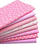 quilting fabric on sale - iNee Pink Fat Quarters Quilting Fabric Bundles, Quilting Fabric for Sewing Crafting, 18