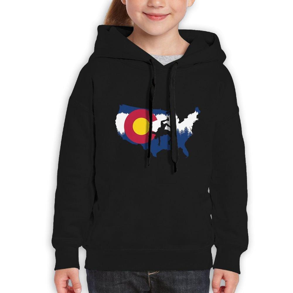 Teenager Pullover Hoodie Sweatshirt Colorado USA Wrestling Teen's Hooded