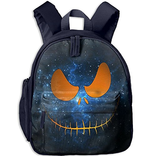Halloween Scary Pumpkin Face Unisex Child Lightweight Shoulder Bags Daypack Navy With Adjustable Shoulder Strap For Travel Or School (Halloween Pumpkin Scary Faces)