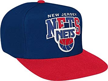 70cc48ac050 Image Unavailable. Image not available for. Colour  New Jersey Nets Mitchell    Ness NBA Throwback Tri-Pop Snap Back Hat