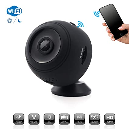 Covert Mini Spy Camera Security System, Real Time WiFi Viewing HD 1080P Wide Angle Lens