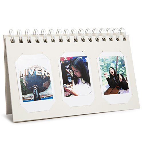 Woodmin 60 Pockets Calendar Photo Album for Fujifilm Instax Mini 8 8+ 9 70 90 7s/Pringo 231/SP 1/Polaroid PIC-300P/Polaroid Z2300 Film - For What Pd Is Stand