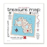 Stupell Home Décor How to Read Treasure Map Wall Plaque Art, 12 x 0.5 x 12, Proudly Made in USA