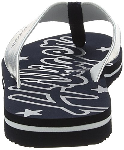 Sandal Mirror Tommy Blue Women''s Flops midnight Hilfiger Sparkle 403 Flip Beach xrpSXrn