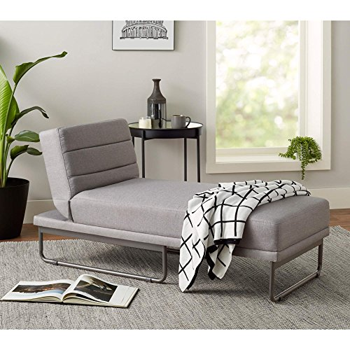 Mainstays Fully Upholstered Modern Loop Chaise Lounge (Gray)