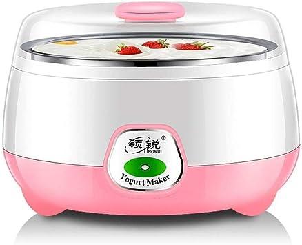 Pequeños electrodomésticos, máquina de yogur, máquina de vino de arroz natto, 1 litro máquina de yogur de temperatura constante mini hogar de acero inoxidable, totalmente automática,Rosado,Un tamaño: Amazon.es: Bricolaje y herramientas