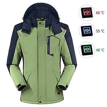 ipretty - Chaqueta con calefacción para hombre, con capucha ...