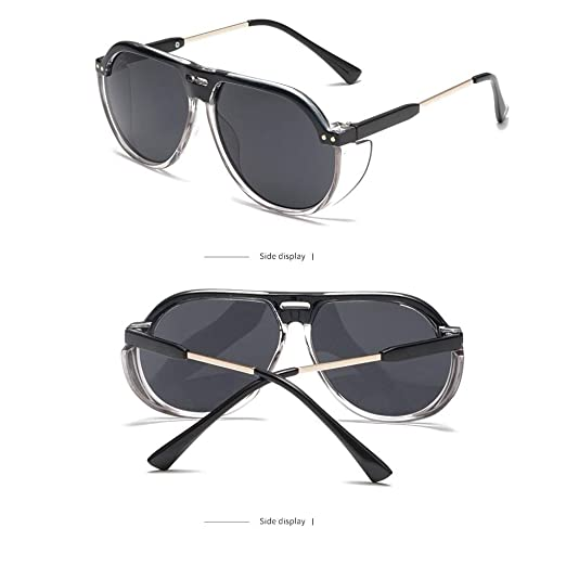 51a3e1c604 Islandse💖💖Women Men Vintage Eye Sunglasses Retro Eyewear Fashion  Radiation Protection (Black)