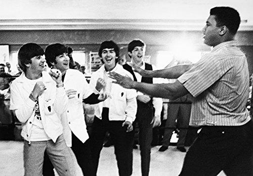 Beatles And Clay 1964 Nthe Beatles (From Left Ringo Starr John Lennon George Harrison And Paul Mccartney) Clowning With Boxer Cassius Clay (Later Muhammad Ali) At His Training Camp In Miami Beach Flor