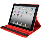 Natico Faux Leather 360-Degree Rotating Case for iPad mini, Red (60-IM360-RD)