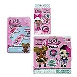 L.O.L Surprise! Ruckus Card Game, 48 Pc Puzzle and Dominoes Set Bundle