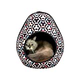 IBIYAYA Cat Cave Pod for Indoor Cats also ideal for Ferret and Puppy Bed (Honeycomb)