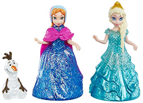 Disney Frozen Glitter Glider Anna, Elsa and Olaf Doll Set ()