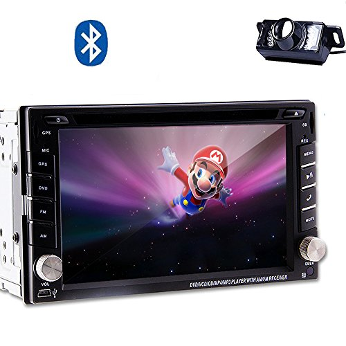 Double Din GPS 3D Map PC In Dash Car Video BT Audio Auto radio Receiver Car Stereo Audio CD DVD Player System Head Unit Sub AMP RDS Built in Rearview Camera