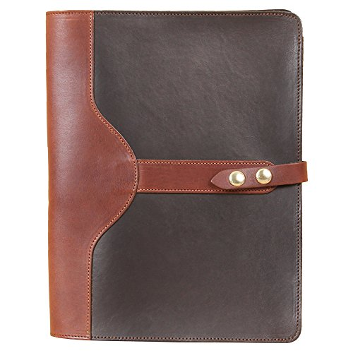 Black Leather Portfolio Case for iPad Pro Tablet Pocket Full-Grain USA Made No. 26 Business Writing