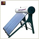 Pressurized Solar Water Heater with Vacuum Glass Tubes and Heat Pipes