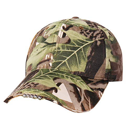 BeautyVan Outdoor Cap Camouflage Black Lighted Cap Hands-Free LED Flashlight Cap (Camouflage)