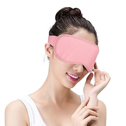 Máscara De Ojo De Lavanda A Vapor Con Ajuste De Temperatura Y Sincronización Con Calefacción Por