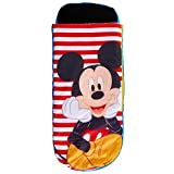 Readybed Mickey Mouse Kids Air Bed and Sleeping Bag-in-1, Polyester, One Size
