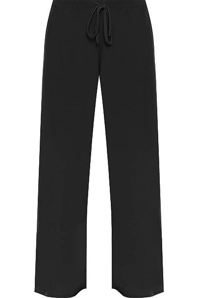 77c317ac568e WearAll Nuovo Taglia Unica Plus da Pantaloni da Donna Larghi a Campana Gamba  Pantaloni Taglie 12 - 30  Amazon.it  Abbigliamento