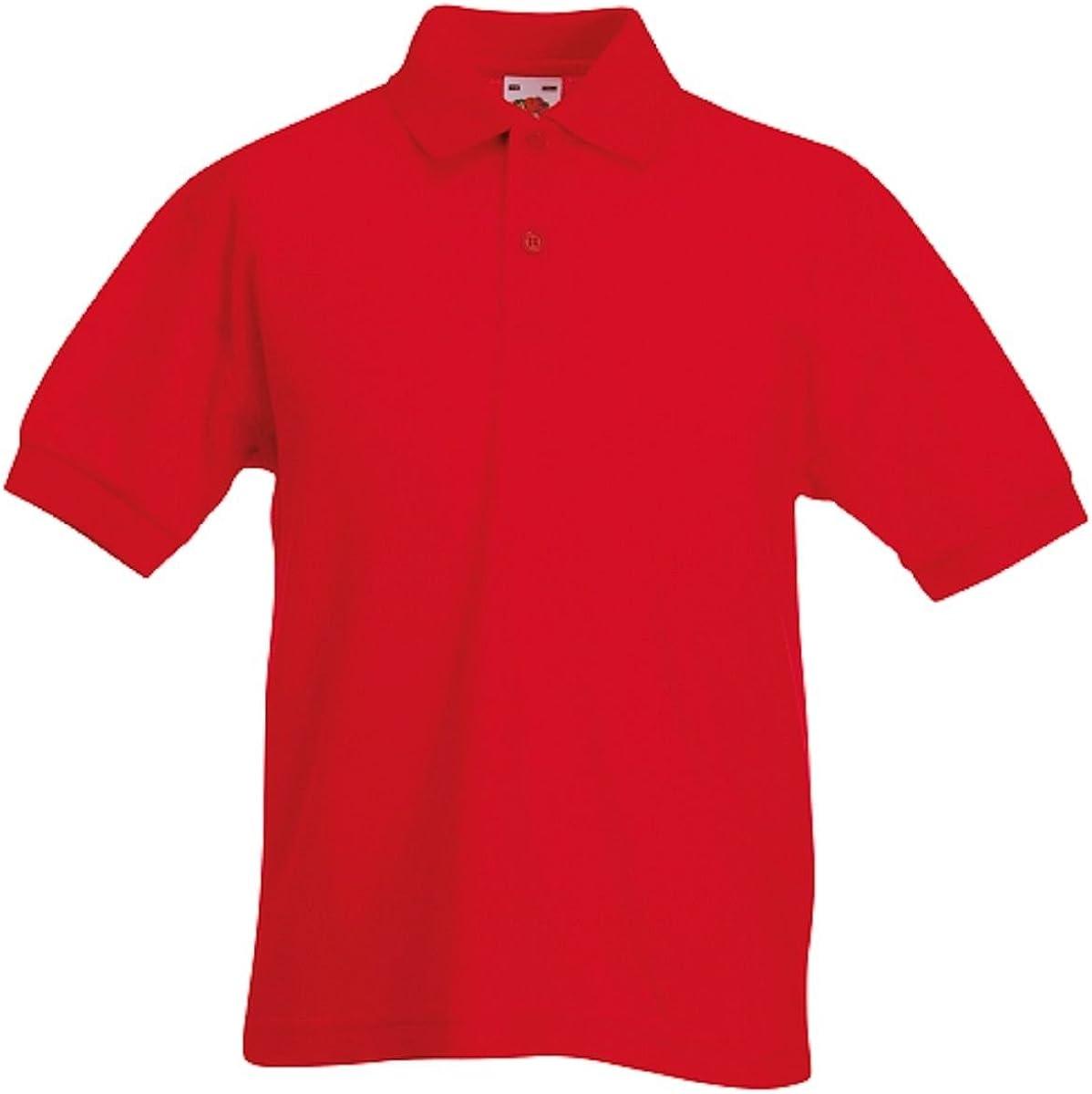 Gr/ö/ße: 104 3-4 Farbe: Red 65//35 Polo Kids