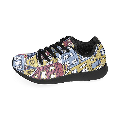 Running de Lona Negro Zapatillas Zenzzle Mujer Para de Negro aqAwEqx4t