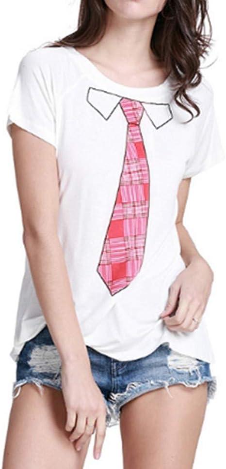 XIAOBAOZITXU Imprimir Camiseta para Mujer Camisetas Mujer Verano ...