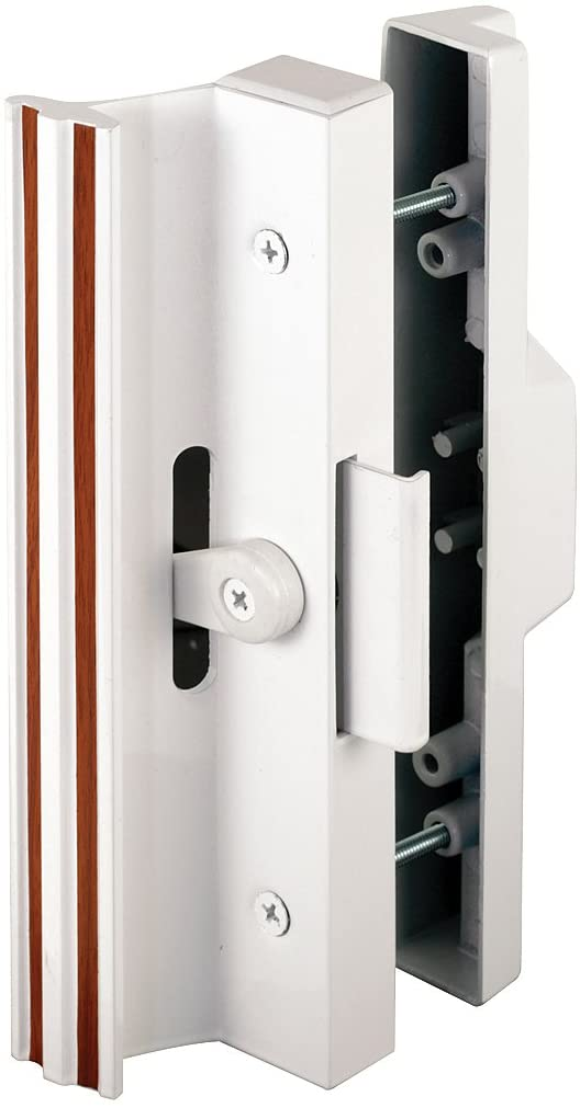 Extruded Aluminum, White, Sliding Patio Door with Clamp Type Latch