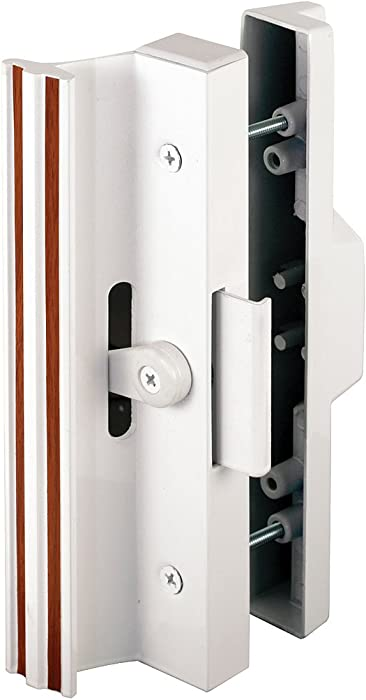Extruded Aluminum, White, Sliding Patio Door with Clamp Type Latch
