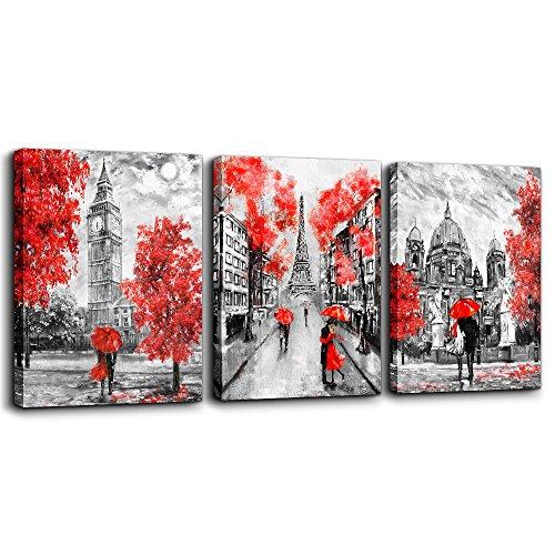 MHART66 Canvas Art Simple Life Black and white scenery romantic couple Wall Art Decor 12