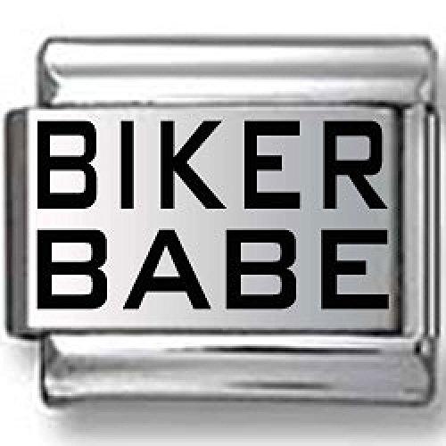 Biker Babe Laser Italian Charm (Italian Charm Display)