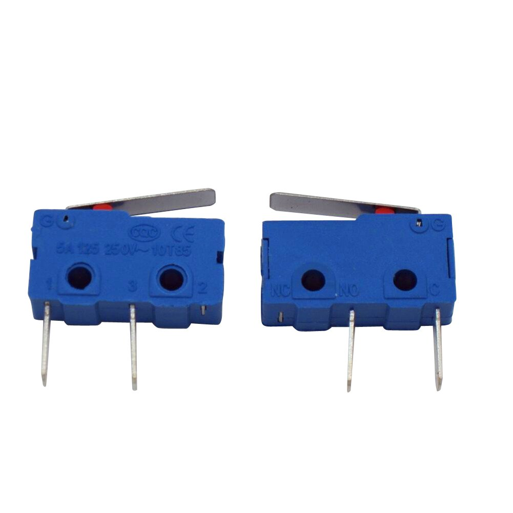Taiss 10pcs 250V 5A 3 Pin NO Tact Switch Sensitive Micro Switch Micro Switches Handle Limit Switch Long Life 1 Million Life KW11-3Z-1