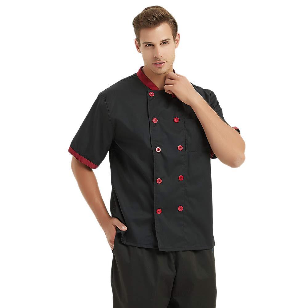 Top Tie Unisex in Maniche Corte Chef Cappotto Giacca