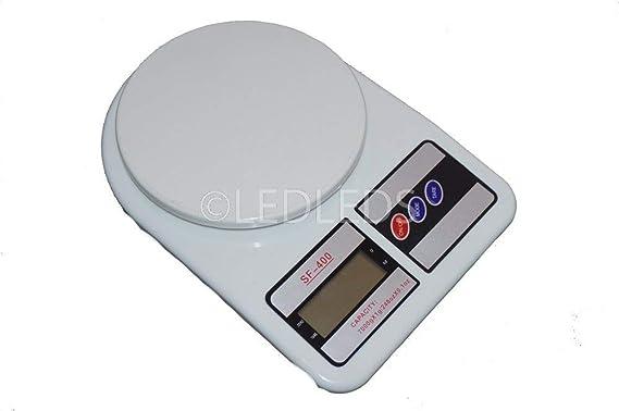 Báscula digital de cocina SF 400, LCD, función tara, pesa desde 1 gramo a 7 kilos: Amazon.es: Bricolaje y herramientas