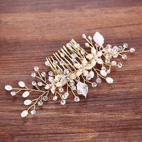(Luxury H mad Copper Wire Crystal Enamel Leaf Headb Twig Combs Jewelry Royal Bridal Wedding Hair Accessories Silver Plated)