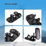 XMYING-Mini-Pattini-da-Sci-per-La-Neve-Mini-Sci-da-Esterno-Slitte-da-Snowboard-Portatili-Scarponi-da-Sci-Regolabili-Attrezzatura-da-Sci-Invernale-UnisexA1-PCS