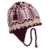 Turtle Fur Twiggly Classic Wool Ski Earflap Hat Light Pink