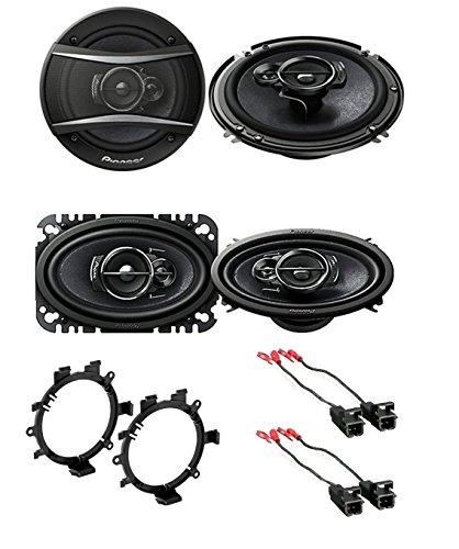 "Pioneer 6.5"" CAR Truck Stereo Front & Rear Door Speakers W/M"