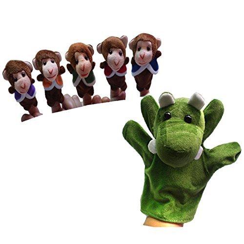 Lsv-8la Nursery Rhyme marionnettes à doigts pour cinq Petits singes Swing dans un arbre