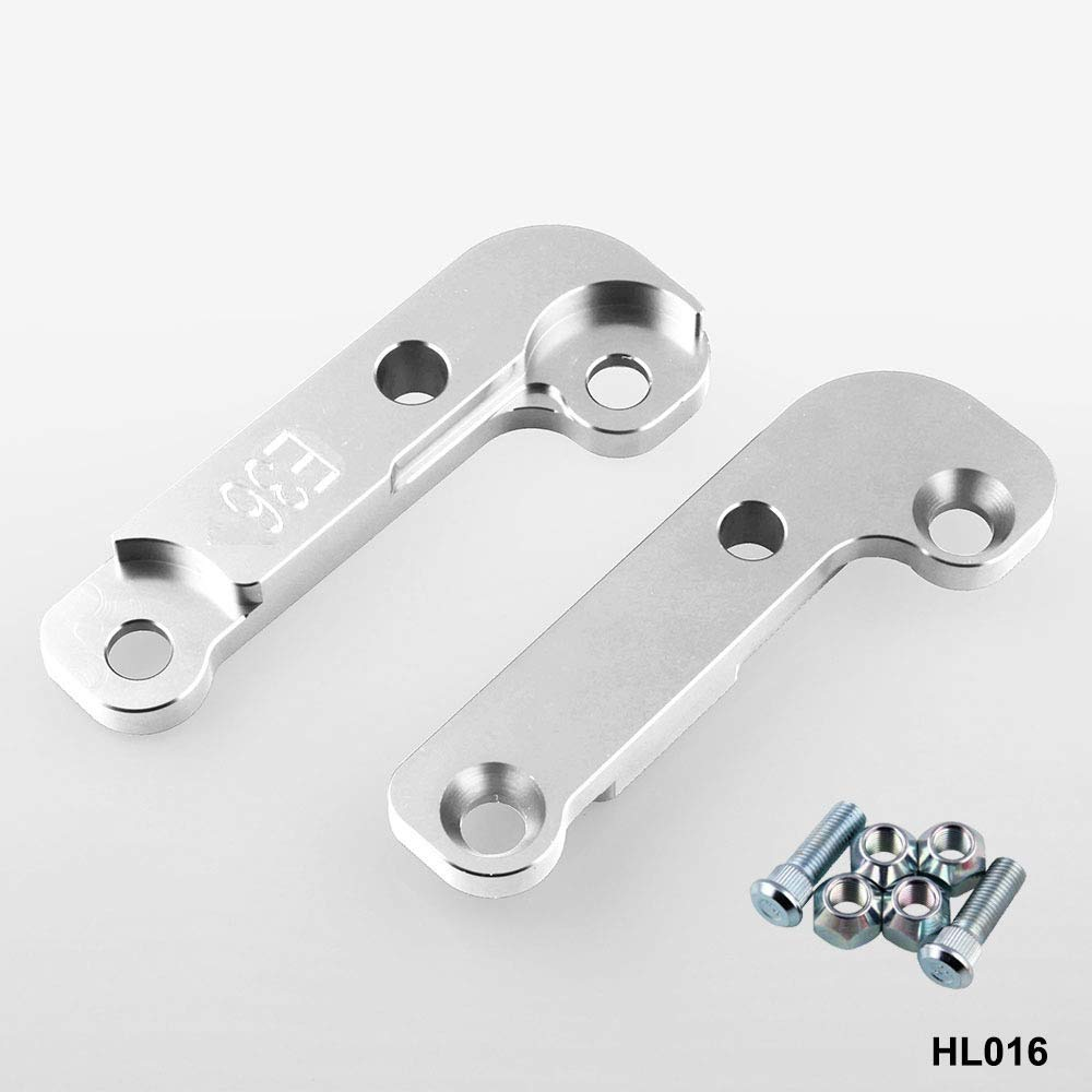 XuBa Aluminium Adapter Increasing Turn Angles 25/% E36 Drift Lock Kit for B.M.W M3 E36 Black