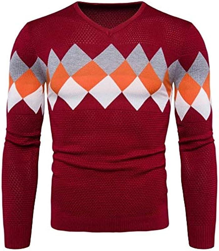 Męski sweter z długim rękawem sweter casual nadruk odzież okrągły dekolt kolt sweter dziergany sweter: Odzież