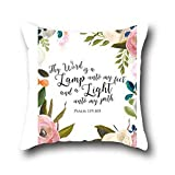 Robert Beautifulcotton Super Soft Solid Color Pillow Cover Christian Bible Verse Decorative Throw Cushion Covers Pillowcase Shell Square Case 20*36
