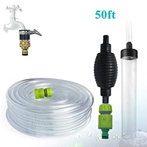 Laifoo 50ft Aquarium Water Changer Gravel & Sand Cleaner Fish Tank Siphon Cleaning Tools