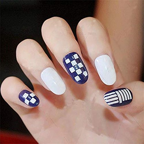 Nail stickers, 24 hojas 96 diseños 288 PCs Hollow nail art nail sticker hoja vinilo es Nail stencil para Beauty Nail Art Designs, hueco rejilla irregular ...