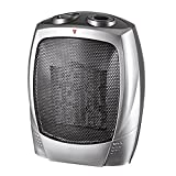 [Promotion Price] Homall PTC-903 ceramic Tabletop/Floor fan heater with thermostat (White/Black)