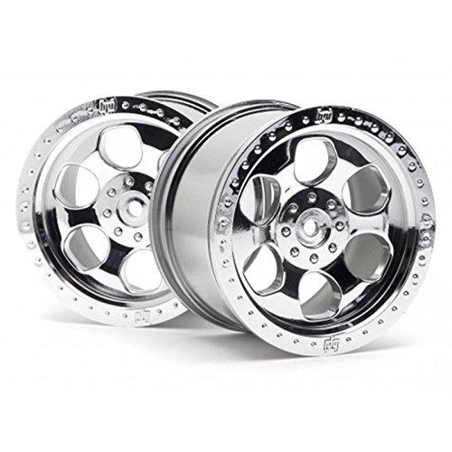 HPI Racing 3117 6 Spoke Wheel Savage, Shiny Chrome