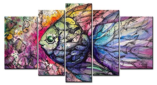 Animal Series Home Decor Artwork a Digital Drawing Fish
