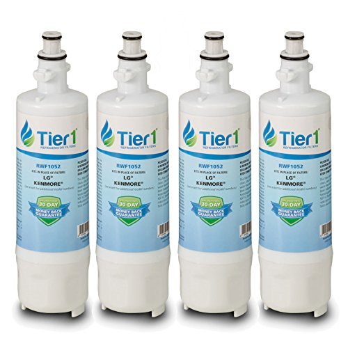 Tier1 Replacement for LG LT700P, ADQ36006101, ADQ36006102, Kenmore 46-9690, 469690 Refrigerator Water Filter 4 Pack