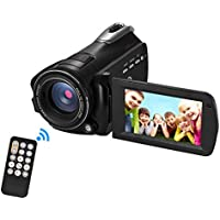 Andoer HDV-D395 Digital Video Camera DV WiFi 1080P 30fps FHD 24M 18X Zoom Camcorder With Remote Control/ IR Infrared Night Vision + LED Light/ 3 Touch Screen Support Face Detect/ Anti-Shake