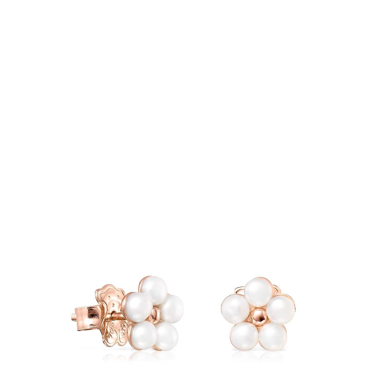 Pendientes Real Sisy de Plata Vermeil rosa con Perlas
